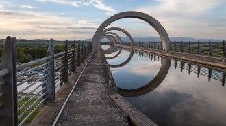 Falkirk-Wheel-Kanal-oben