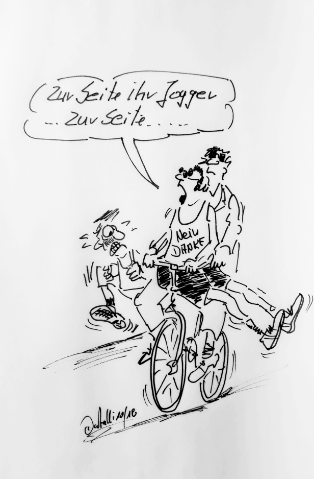 Jogger und radfahrer 1