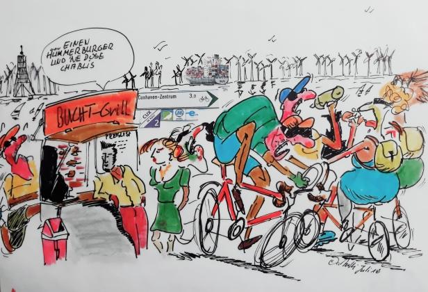 Jogger und Radfahrer 5